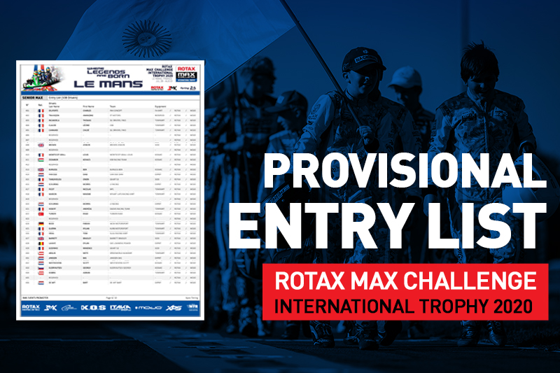PROVISIONAL ENTRY LIST